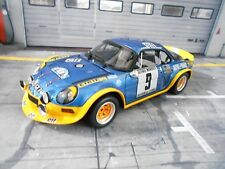 Renault alpine a110 turbo rally Cevennes 1975 #9 therier Otto resin 1:18