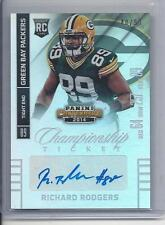 RICHARD RODGERS 2014 CONTENDERS CHAMPIONSHIP TICKET PACKERS ROOKIE AUTO RC /99