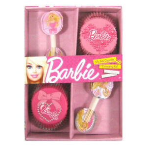 BARBIE Cupcake Decoration Kit Pack of 24 Party Supplies Cake Topper