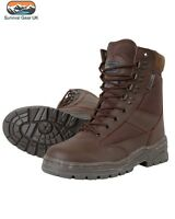 Military Half Leather Army Combat Patrol Boot Brown Tactical All Sizes New Cadet