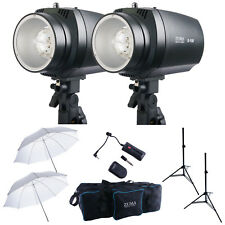 "300W Photo Studio Strobe Flash Monolight Lighting Kit 36"" Umbrella Stand Bag 2pc"