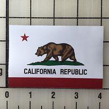 "California Republic Flag Bear 4"" Wide Multi-Color Vinyl Decal Sticker - BOGO"