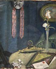 HST ANCIENNE PEINTURE ECOLE INDOCHINOISE VERS 1920 ARTISTE A IDENTIFIER