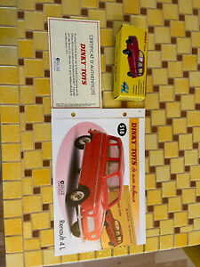 """coffret collector dinky toy atlas 2014 """"4L bleu vif"""" 518 neuf"""