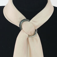Fashion Natural Shell Scarf Ring for Silk Scarves Buckles Brooch Ladys Gifts