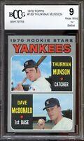 1970 Topps #189 Thurman Munson Rookie Card BGS BCCG 9 Near Mint+