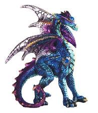 "BLUE SENTRY        Standing Blue Dragon  Statue   H5"""