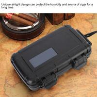 Plastic Cigar Case Holder Cigar Humidor Storage Box Saver with Humidifier Travel