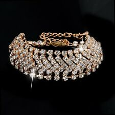 Kings & Lions Austrian Crystal Gold Plated Bracelet for Girls and Women