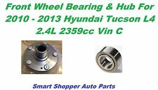 Front Wheel Bearing & Hub For 2010-2013 Hyundai Tucson L4 4WHL ABS-Left or Right