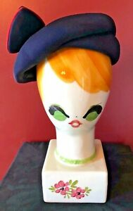 Vintage 1950s/60s I.Magnin Blue MCM Airline Stewardess Style Hat MOD Beautiful!