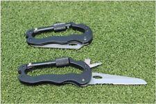 5 In 1 Outdoor Survival Aluminum Multifunction Knife Screwdrivers Carabiner USA!