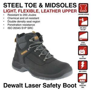 Dewalt Laser Safety Boots Steel Toe Caps and Midsole Mens (Sizes 8,9,10)
