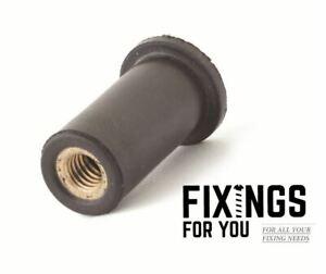 Rubber Well Nuts Motorbike Fairing Nuts Cavity Nuts Brass Inserts M4 M5 M6 M8