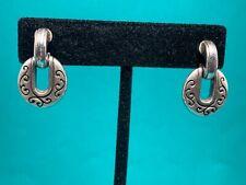 BRIGHTON Silver Round Door Knocker Style Earrings