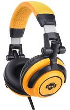 CUFFIE DJ PA BASS HEADPHONES STUDIO PROFESSIONALI ARCHETTO FLESSIBILE ARANCIONE