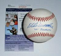 1957 BRAVES Eddie Mathews signed baseball w/ '57 Braves JSA COA AUTO Autographed