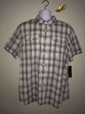 New with Tags Men's XL APT 9 Modern Fit Button Down Short Sleeve Collard Shirt