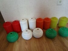 Lot of 13 Vintage Party Patio Blowmold C-7 Light Covers