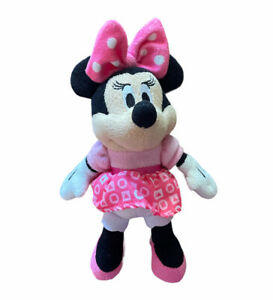 Disney Minnie Mouse Plush Chime Rattle Toy Baby Lovey Lovie