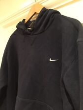 "vintage nike hoodie XL P2P 27"" 90s Oversized 99p Start Navy Blue Little Swoosh"