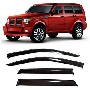 For Dodge Nitro 2006-2011 Window Visors Side Sun Rain Guard Vent Deflectors