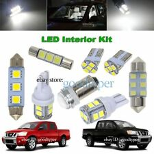 11x White LED Map Dome Light Interior Bulb Package Kit fit 04-2008 Nissan Titan
