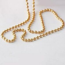 korean jewellery long Rose Gold Plated womens beads Fashion Necklace chain