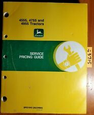 John Deere 4555 4755 4955 Tractor Service Pricing Guide Manual Spg1043 690