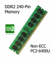 1GB DDR2 Memory Upgrade PC2-6400U 800MHz for Gigabyte GA-G33-DS3R Motherboard