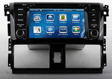 Stereo Car Radio DVD Player GPS Navigation For Toyota Yaris sedan 2013-2014 +MAP