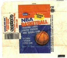 1986-87 Fleer Basketball Empty Wax Pack Wrapper