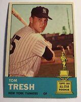 1963 Topps Baseball Card HIGH #470 Tom Tresh New York Yankees 2nd Card SP