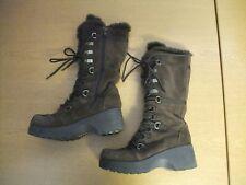 Ladies Winter Boots ALDO brown suede & faux fur UK 4, EU 37, side zip, warm 3008