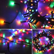 50 Led Strip String Solar Powered Fairy Lights Decor Garden Party Xmas RGB Color