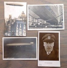 SC# C36 ON 4 1928 RPPC  ZEPPELIN POSTCARDS GERMANY W/ CACHETS & BACKSTAMPED