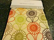 13 pc red Green Purple Gold Retro Flowers Colorful fabric Shower Curtain Floral