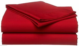 1000 Thread Count Egyptian Cotton Scala Bedding Items US Sizes Red Solid *