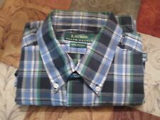 LAUREN RALPH LAUREN BEAUTIFUL PLAID SHIRT SHORT SLEEVES AND CHEST LOGO SIZE L