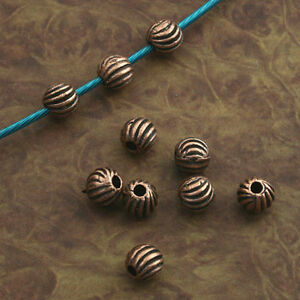 60pcs antiqued copper delicate round Spacer bead Findings X0252
