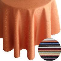 Bronze Tafeldecke Rund - Farbe und Größe wählbar Tischdecke Damast Pflegeleicht