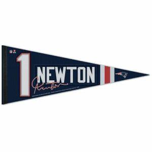 "CAM NEWTON #1 NEW ENGLAND PATRIOTS ROLL UP PREMIUM PENNANT 12''x30"" NEW WINCRAFT"