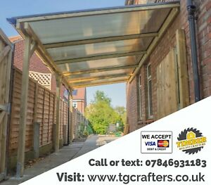 High quality bespoke timber carport bespoke lean-to roof SUPPLY & INSTALLATION