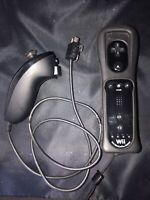 Nintendo Wii Remote Controller Motionplus with Nunchuck - Black OEM RVL-036