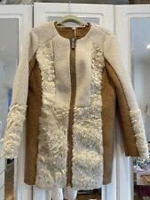 Beige Faux Shearling Coat by Marks & Spencer (UK 12)