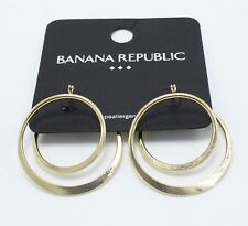 New Gold Tone Spiral Hoop Earrings from Banana Republic #BRE9
