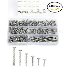 Pan Head Phillips Self Drilling Screws Sheet Metal Tek Screws Assortment Kit