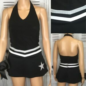 Cheerleading Uniform Raiders Colors  Plain Set Adult S