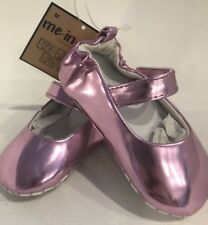 Baby Pink Metallic Shoes Classic Mary Jane Me In Mind BNWT Shower Gift 6-12m