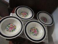 Fondeville Ambassador Ware Large Soup Bowls set of 4 England